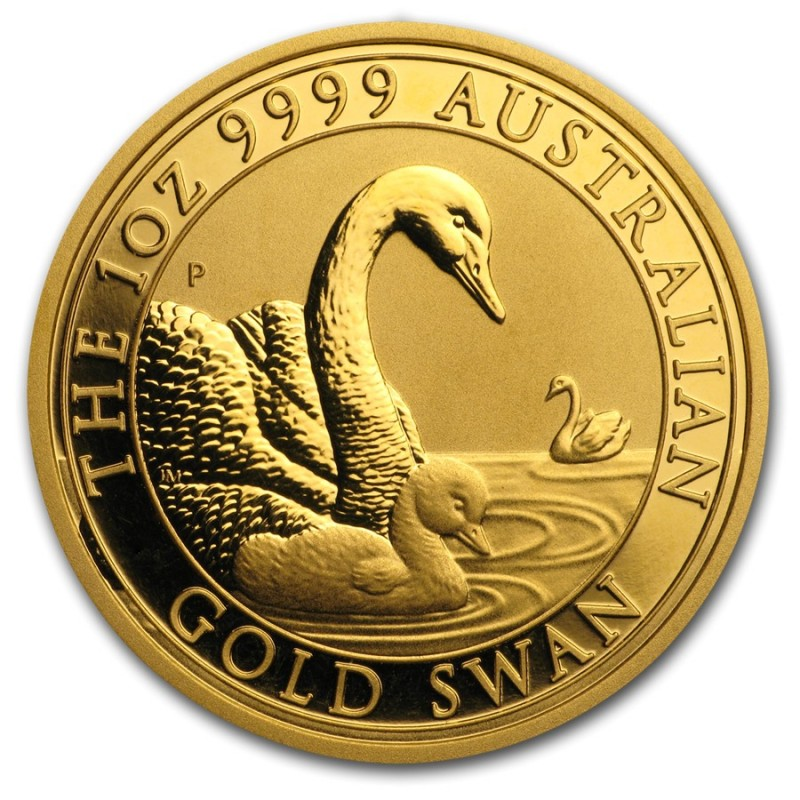 1 oz Unze Gold  Swan Schwan Perth Mint 2018