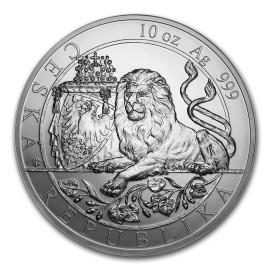 10 Unze Silber 25 $ Dollar Czech Lion - Tschechischer Löwe Niue Island 2019
