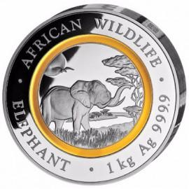 1 Kilo Silber Somalia Elefant 2019 PP Polymerband
