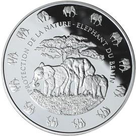 1 Unze Silber Benin Elefant 2017  PL nur 5000 Stk.