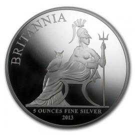 5 Unze Silber Britannia UK 2013   PP NGC69 First release