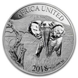 3 Unze Silber lefant United Afrika  PP 2017 nur 5000 Stk.