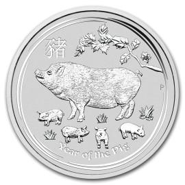 10 kg Silber Lunar II Schwein Pig 2019