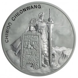 1 oz Unze Silber Südkorea South Korea Chiwoo Cheonwang 2018 1 Clay