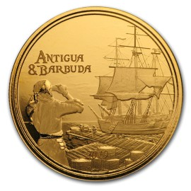 1 Unze oz Gold 2019 Antigua & Barbuda Rum Runner BU