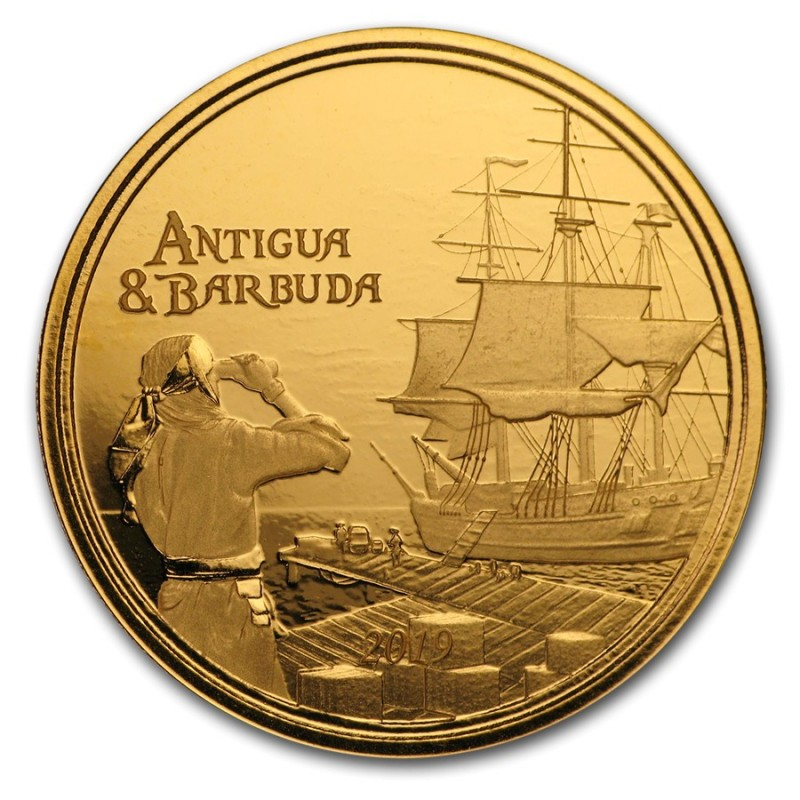 2018 Antigua & Barbuda 1 oz Gold Rum