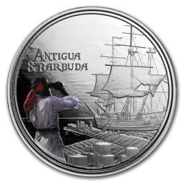 1 Unze Silber 2019 Antigua & Barbuda Rum Runner farbig