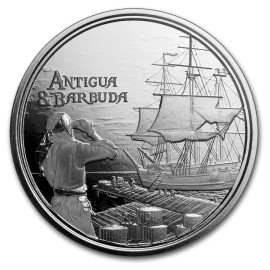 2018 Antigua & Barbuda 1 oz Silver Rum Runner BU
