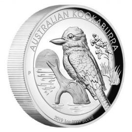 1 Unze  Silber Australien Kookaburra 2019 High Relief
