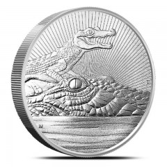 2 oz Silver Crocodile