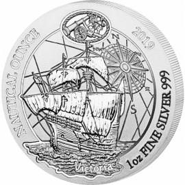1 Unze Silber Nautical Victoria Ruanda 2019