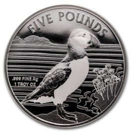 1 Unze Silber Puffin Alderney 2019 Papageitaucher BU
