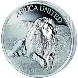 3 Unze Silber Elefant Africa United  PP 2017 nur 5000 Stk.