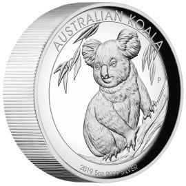 5 Unzen  Silber Australien Koala 2019 High Relief