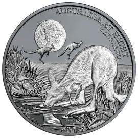 1 Unze oz Silber Känguru Niue Box 2019 Australien bei Nacht