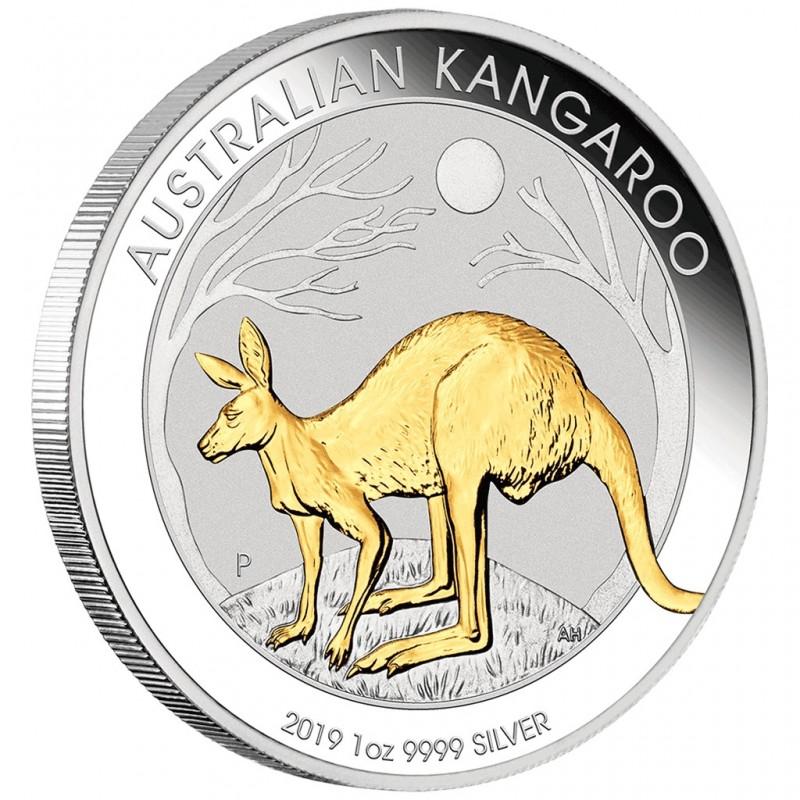 1 oz Kangaroo Nugget 2018 Silver