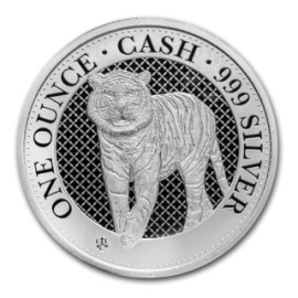1 Unze Silber St. Helena Tiger Cash 2019