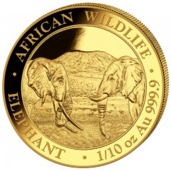 1/10 oz Somalia Elefant Gold 2019