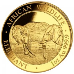 1 oz Somalia Elefant Gold 2019