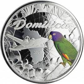 1 Unze Silber 2019 Dominica Nature Isle farbig