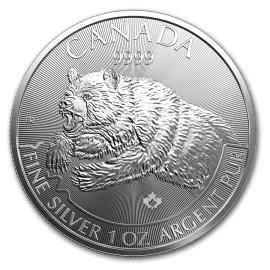 1 Unze Silber Grizzly  2019 Predator Canada