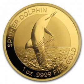 1 oz Unze Gold  Delfin Dolphin 2020