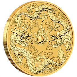 1 oz Unze Gold Double Dragon Drache Perth Mint 2020