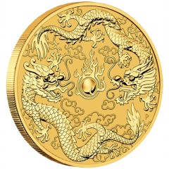 1 oz Gold  Dragon Tiger