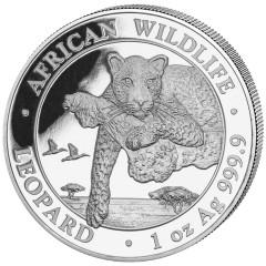 1 oz Silver Somalia Leopard2019