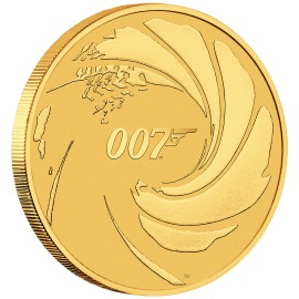 1 oz Unze Gold  James Bond 2020 BU