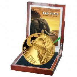 5 oz Gold Big Five Leopard  2017 PP 10000  Francs CFA