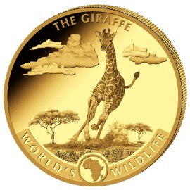 1 oz Gold World Wildlife Giraffe  2019 Kongo