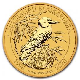 1/10 oz Kookaburra Gold 2020 30 Jahre