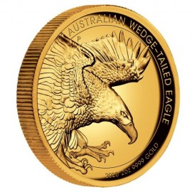 2 Unze Gold Wedge-Tailed Eagle High Relief PP mit Box