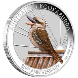 1 Unze Silber Australien Kookaburra 2020 WMF Berlin  Farbig