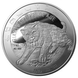 1 kg Silber Säbelzahntiger Ghana 2020
