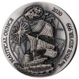 3 Unzen Silber  2020 High Relief Ruanda Nautical Ounce Mayflower 2020 extra  1000 RWF