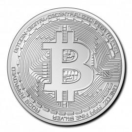1 Unze Silber Bitcoin Tschad 2020