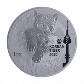 1 oz Unze  Silber Korean  Tiger   2020
