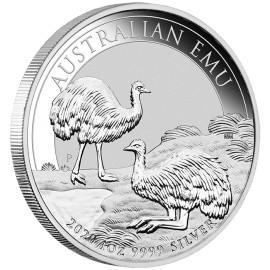 1 Unze Silber Emu Perth Mint 2020