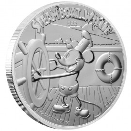 1 Unze Silber Mickey Steamboat Willie Disney 2020 PP