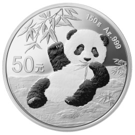 150 g Gramm Silber China Panda 2020 PP BOX