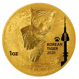 1 oz Gold Korean Tiger 2020