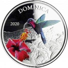 1 Unze Silber 2020 Dominica Nature Isle farbig