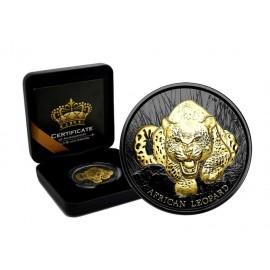 1 OZ Silber African Lion 2017 Niue 2 Dollars Gold Black Empire