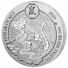 1 Unze Silber Ruanda Ratte 2020