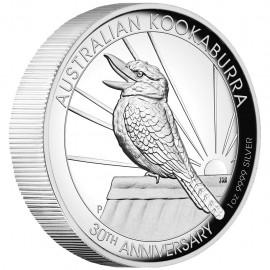 1 Unze  Silber Australien Kookaburra 2020 High Relief