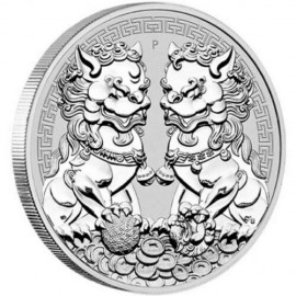 1 Unze Silber Double Pixiu Perth Mint 2020