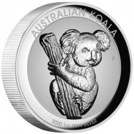1 Unze  Silber Australien Koala 2020 Incuse High Relief