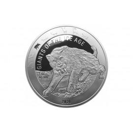 1 Unze Silber RSäbelzahntiger  Ghana 2019